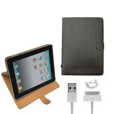 Funda Libro Soporte PU Para iPad 1 A1219 A1337 con cable cargador datos 30PIN