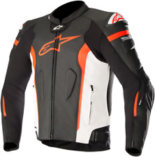 Missle Leather Jacket Tech-Air Compatible Alpinestars 52 Black/White/Red