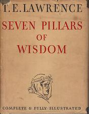 SEVEN PILLARS OF WISDOM-T.E.LAWRENCE-1ST PRINT-1935-STUNNING BOOK W/DJ-RARE!