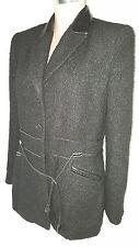 MILLE & UNE France Womens Suit Blazer Jacket Coat Sz 46 (USA 10) Black
