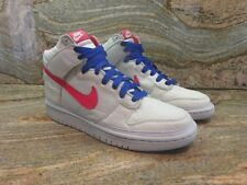 2008 Nike Dunk High Nylon Premium Sample SZ 9 Pure Platinum Hot Red 354713-062