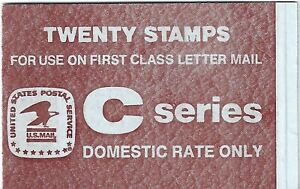 C Series - BK141 1981 $4.00 Brown on Blue with 2 Panes of 10 C Stamps - Mint NH