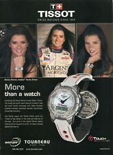 VINTAGE TISSOT LIMITED EDITION T-TOUCH DANICA PATRICK INDYCAR DRIVER MAG AD DOWN