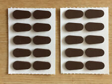 Free shipping Flents Self Adhesive Soft Foam Coffee Colored Nose Pad 20 pads