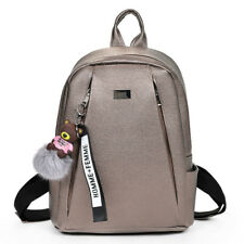Fashion Gold Backpack Women Vintage Large Capacity Teenage Girls School Bag
