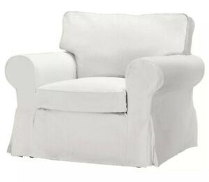 Ikea EKTORP Chair Armchair COVER Slipcover Blekinge White (Pre-Owned)