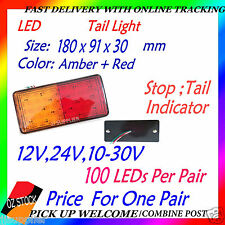2x LED Tail Light Trailer Caravan Truck UTE Camper Stop Tail Indicator LED 180mm