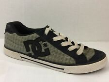 DC Womens 11 M Chelsea Low Top Skate Shoes Gray Black Skateboarding Canvas Sport