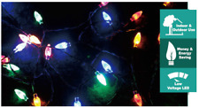 80 PINE CONE COLOURED LIGHTS CHRISTMAS TREE SET INDOORS OR OUTDOORS