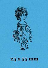 """Petite fille """"betsinda"""" tampon en caoutchouc adossés à accrocher en mousse"""