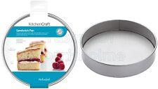 2 x Kitchen Craft Moules Gâteau en fer 20.3cm/20cm ROND anti adhésif Victoria