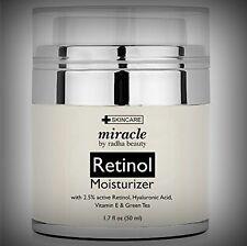 All Natural 2.5% Retinol Moisturizer w Hyaluronic Acid Vit E - Scars Spots Lines