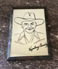 Vintage Hopalong Cassidy Mirror With Image & Autograph Inscribed Circa 1950s