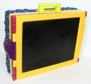 Kids White Board Chalk Board Storage Box with handle Art Pens Pencil Paint Draw