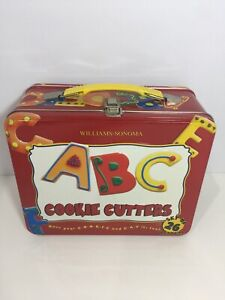 Cookie Cutter set Alphabet ABC Educational Fun in Lunch box Williams Sonoma