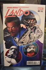Star Wars Lando #1 Greg Land Variant Cover Marvel Comics Millennium Falcon