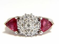 $4000 2.00ct NATURAL PINK SAPPHIRE DIAMONDS RING 14KT CIRCULAR CLUSTER TOP