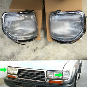 Front LH+RH Corner Light Covers For Toyota Land Cruiser LC80 4500 FZJ80 1991-97