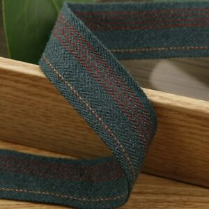 5yards Striped Polyester Cotton Herringbone Ribbon Diy Accessories Gift Package