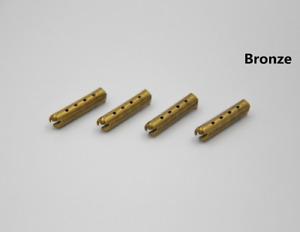 Aglets DIY 4x Bronze Lace Aglets bronzene Metall Schnürsenkel Enden