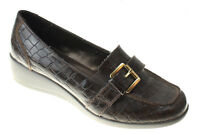 Karen Scott Womens Brown Patent Wedge Loafers Driving Shoes Size 7