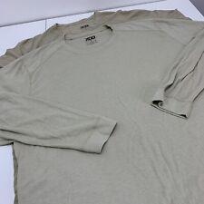 Lot Of 2 XGO Long Sleeve Fire Resistant FR 1 & 2 Shirt Khaki