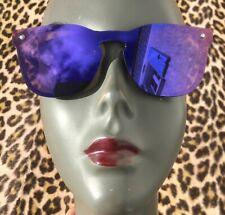 Eye-Catcher 1980s Woman Sunglasses~Purple Mirror Lenses ~Made In Austria~Unused