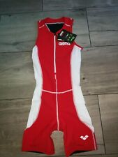 ARENA TRIATHLON LADIES TRISUIT ST RED/WHITE SIZE M