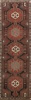Geometric Semi Antique Bakhtiari Runner Rug Wool Handmade Oriental Carpet 3'x10'