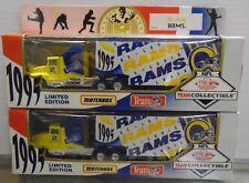 St. Louis Rams Matchbox 1995 Die-cast Haulers Lot of 2 030118DBT2