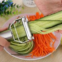 Edelstahl Gemüse & Cutter Schäler Silber Kartoffel Karotte Reibe Küche Werkzeug