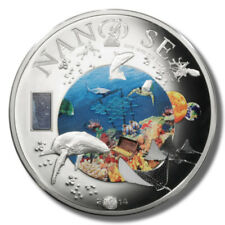 2014 Cook Islands Nano Sea $10 Legal Tender Silver Coin with Nano Chip