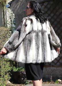 Mink Jacket fur Jacket Kohinoor Mink Coat Fur Black Cross Mink Ivory Black