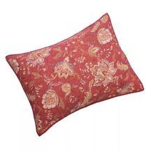 Home Classics Sarah Jacobean Red Standard Pillow Sham New Sara