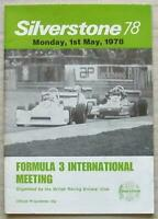 SILVERSTONE 1 May 1978 BRDC FORMULA 3 INTERNATIONAL MEETING Official Programme