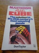 MASTERING RUBIK'S CUBE DON TAYLOR 1980 BOOK MANUAL PUZZLE INSTRUCTIONS 1980'S