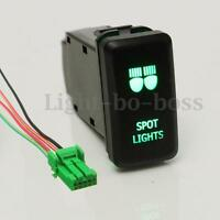 12V Push Green LED Spot Light Switch For Toyota Landcruiser Hilux Prado