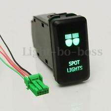 12V Push Green LED Spot Light Switch For Toyota Landcruiser Hilux Prado Hiace