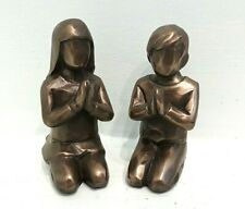 Pair Of Small Praying Figures Boy And Girl Ornaments Decoration