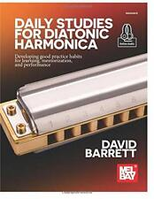 Mel Bay Daily Studies for Diatonic Harmonica Music Book/Online Audio-New On Sale