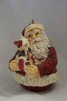 Santa Clause Puppy Ornament Dog Christmas Holiday