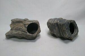 2pk DR. MOSS Cichlid Stone Ceramic Aquarium Rock Cave Decor Fish Tank Small