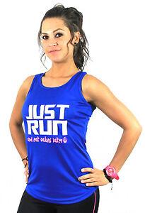 JUST RUN RUNNING Cake Sexy Ladies Women Racerback Gym Yoga Workout Vest Tank Top