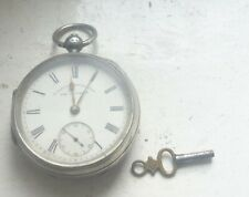 CHESTER 1896 SOLID SILVER FUSEE  POCKET WATCH IN WORKING ORDER NO RESERVE