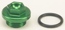 WORKS OIL FILLER PLUG GREEN Fits: Kawasaki KX250F,KX450F,KLX450R,KX250,KFX450R S