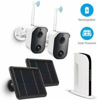 1080P Wireless WiFi Camera Solar Rechargeable Battery Outdoor Security Lot
