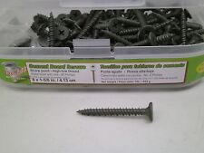 "1lb #8 x 1-5/8"" Cement Board Screws Exterior Coated Wafer Head CB1581 125+/bx DA"