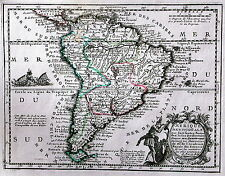 Antique map, L'Amerique Meridionale