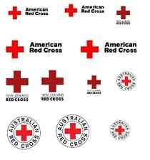 * 12 X tobogán calcomanías Usa Nueva Zelanda Cruz Roja australiana para los modelos de código 3