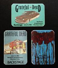 Grateful Dead Backstage Pass 1984 Colorado Red Rocks Train Roses 6/12,13,14/1984